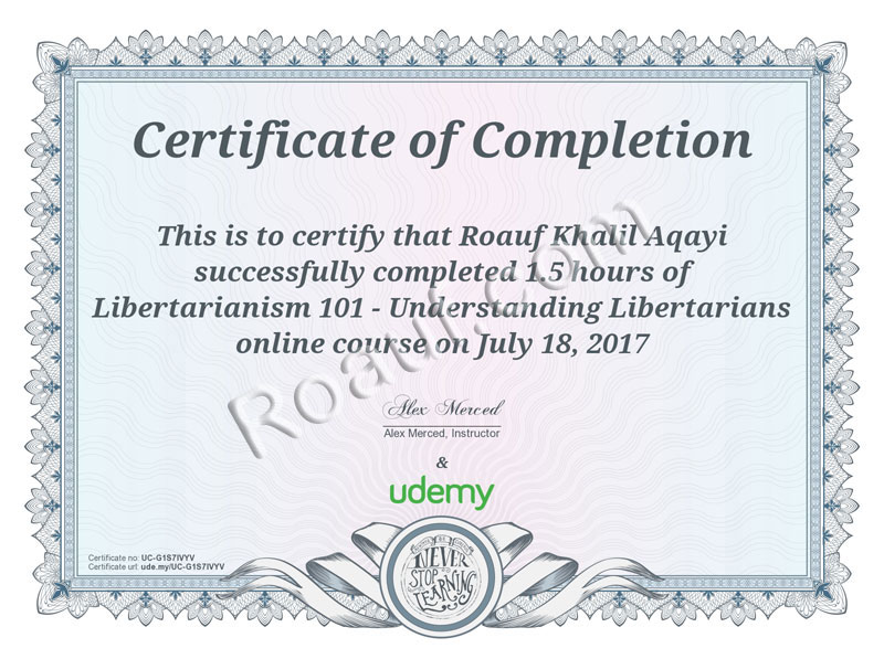 HUMAN RIGHTS Certificate