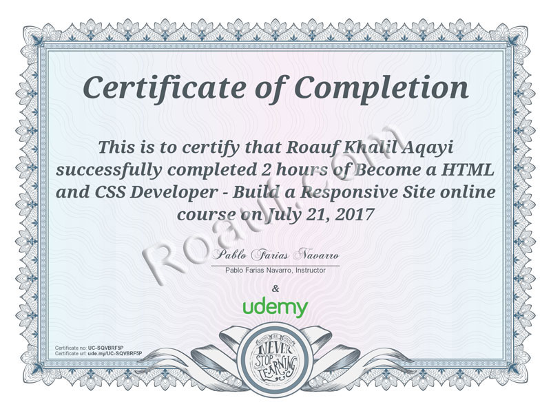 WEB DESIGN and WEB PROGRAMMING Certificates